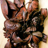 Grinling Gibbons carving from Hampton Court Palace after restoration