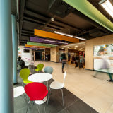 Student shopping and cafe area in Fulton Building, Swansea University