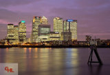 Canary Wharf, London at Sunset