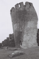 The leaning tower of Caerphilly Castle