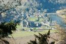 Tintern Abbey, after a long walk up the hillside.
