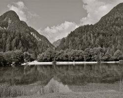 Lake Jasna, Slovenia B&W 2614a
