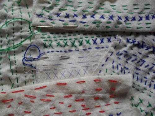sewing done by Grade 1