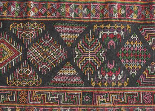 kira (detail) - the dress worn by women in Bhutan