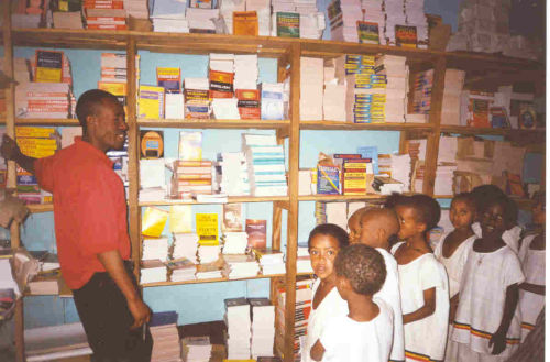 Grade 2s are shown behind the scenes at a bookshop in Gondar