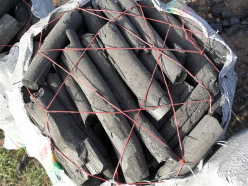 sack of charcoal ready to be transported