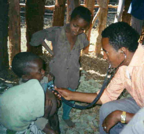 Dr Tadesse at work