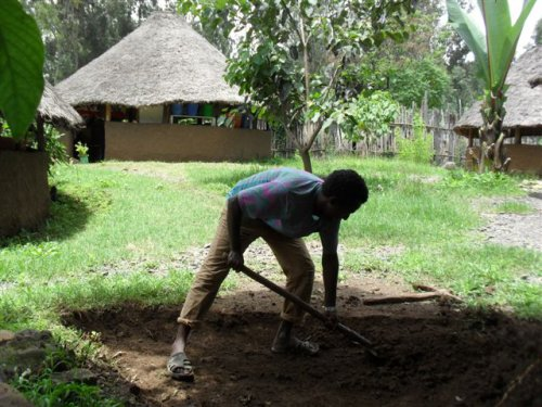 building footpaths and play areas