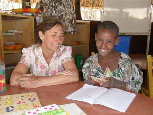 Jane with a Grade 2 schoolgirl