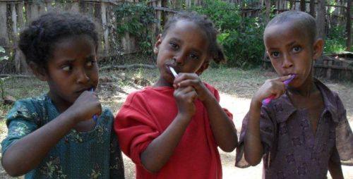 instilling in Grades 1s the habit of toothbrushing