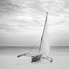 Dhow fishing boat ashore, Zanzibar