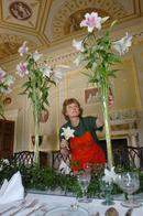 Florists dress a country house ready for a display