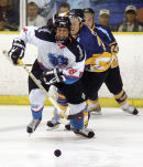 Ice hockey action at the Slough jets.