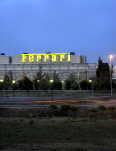Dawn at the Ferrari factory, Italy.