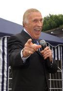 Bruce Forsyth opens hospital fete.