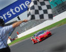 Bruno Senna wins Ferrari challenge race, Silverstone.