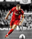 Liverpool captain Steven Gerrard races for goal.