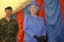 The queen on a visit to Combamere barracks