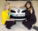 Handover of new car to competition winner.