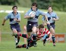 Newbury Blues on the way to a try.
