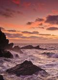 Dawn at Peak Rock, Polperro