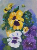 Pansy colour - floral oil painting