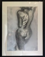 Naked Candy 1 Charcoal; framed 60 x 84 cm
