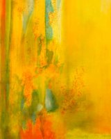YELLOW RIVER Oil on canvas 76 x 152 cm