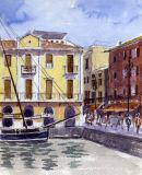 Malcesine Harbour. Lake Garda