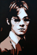 "THE SMALL FACES. (BROWNS & CREAMS.)SIZE: 40"" X 16"". (CLOSE UP.)"