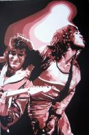 """ROLLING STONES - MICK & RONNIE.SIZE: 36"""" X 24""""."""