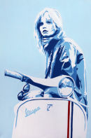 """SCOOTER GIRL (2). SIZE: 24"""" X 18""""."""