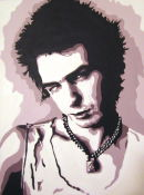 """SID VICIOUS - THE SEX PISTOLS.SIZE: 24"""" X 18""""."""