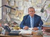 Ian Hislop at his desk