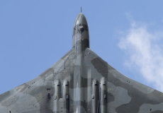 Vulcan climbing skywards