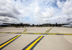 AVRO Vulcan and Lancasters
