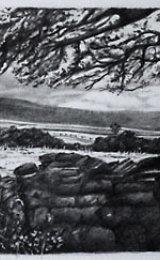 Allenheads Panarama, graphite drawing