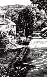Allenheads Village- scraperboard