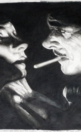 Gilbert and Garbo, pencil drawing