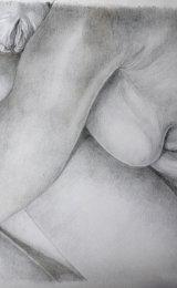 Metalpoint drawing, nude