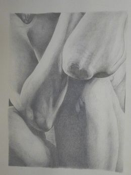 Nude drawing in goldpoint and silverpoint