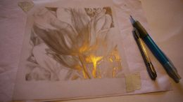Gold and silverpoint drawing. Silverpoint and goldpoint