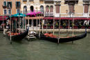 The classic Venice photograph of gondoliers