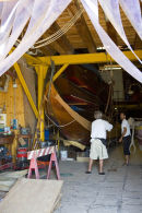 The making of a gondola in Venice