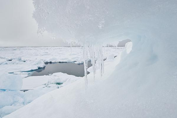 Pressure Ridge Ice Melt