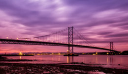 Forth Road Bridge at Night