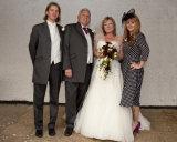 Bride, groom, son & fiance
