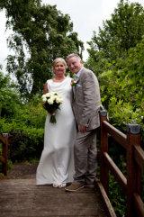 Bride and Groom on the bridge of love