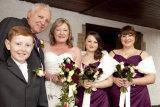 Bride, groom bridesmaids and pageboy