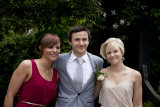 Best man with sister and partner